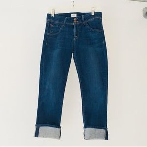 Hudson cropped jeans. Medium wash.